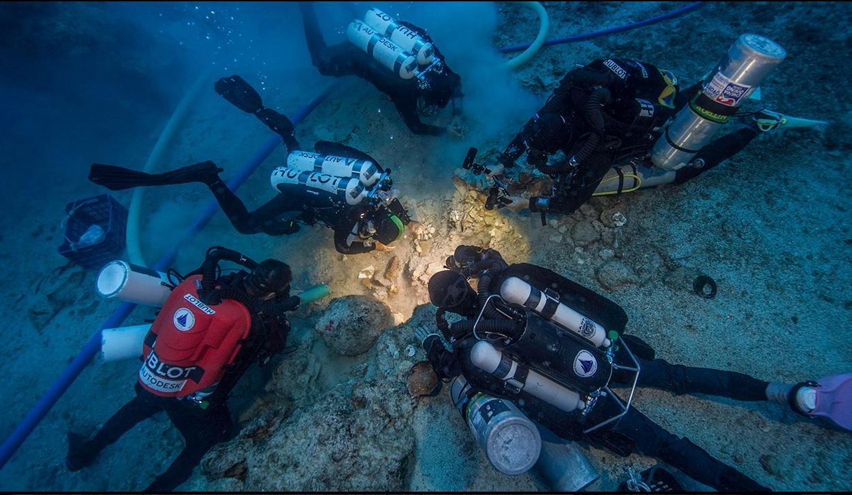 2000yo skeleton discovered at Mediterranean shipwreck