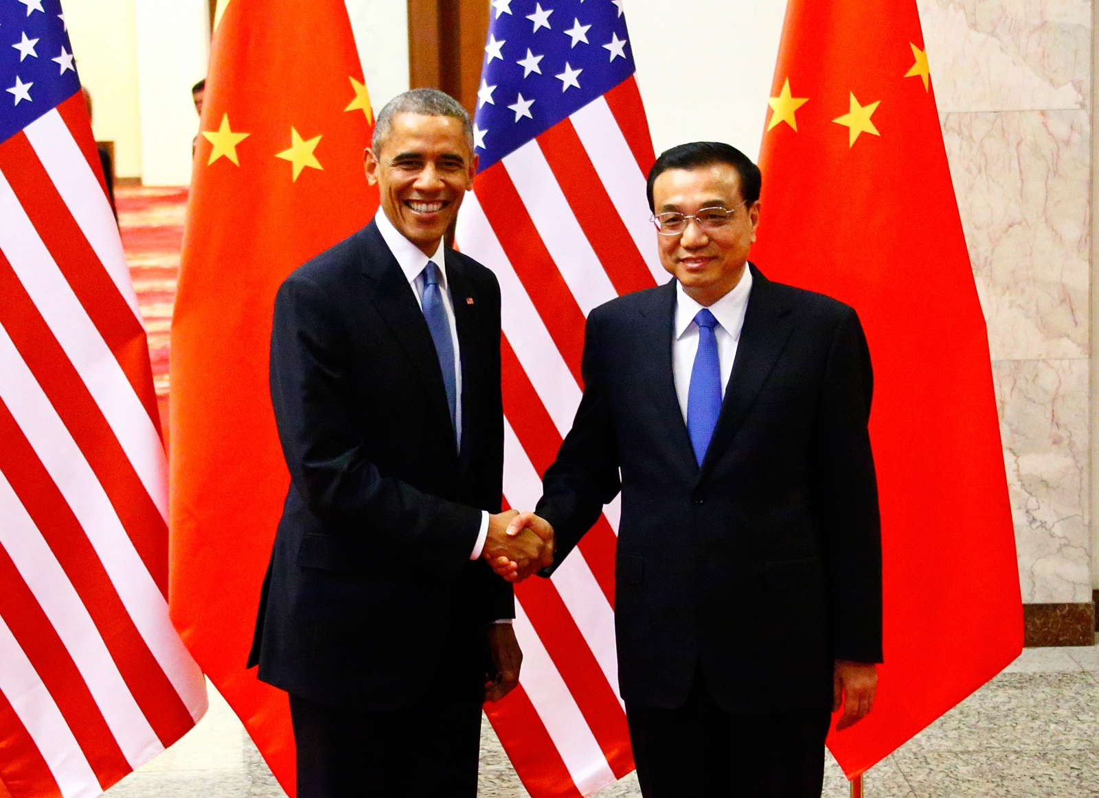 Barack Obama and Premier Li Keqiang