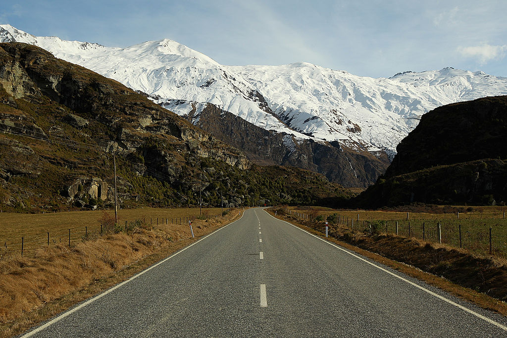 A road in Wanaka, New Zealand