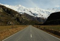 A road in Wanaka, New Zealand