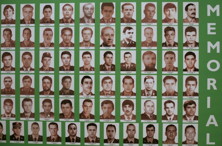 A poster displaying pictures of ETA victims