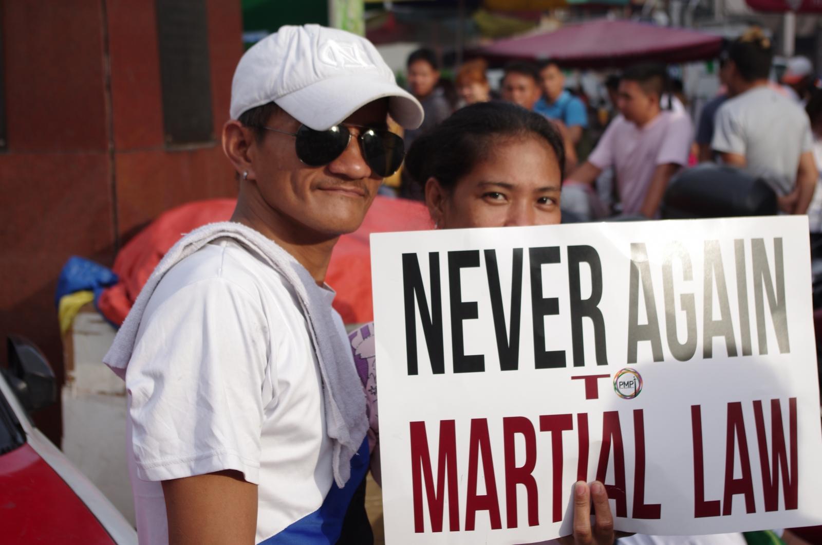 A protester in Manila
