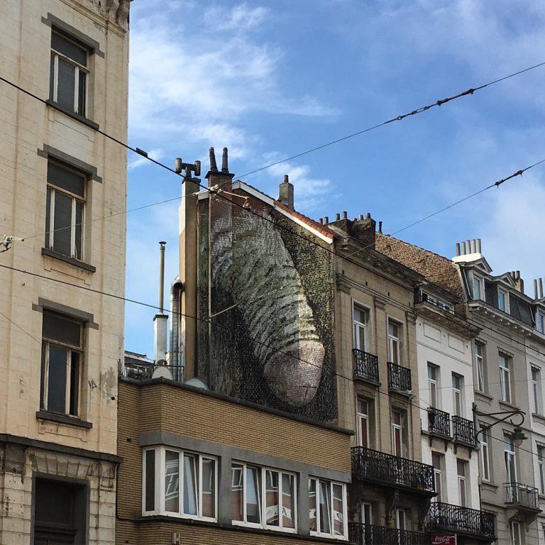 Gigantic fresco in Brussels