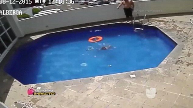 Step-father drowns child in swimming pool