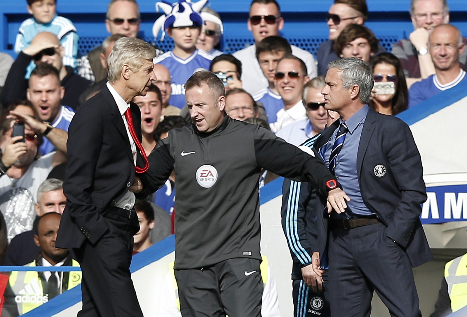 Arsene Wenger reacts to alleged Mourinho 'break his face' comment
