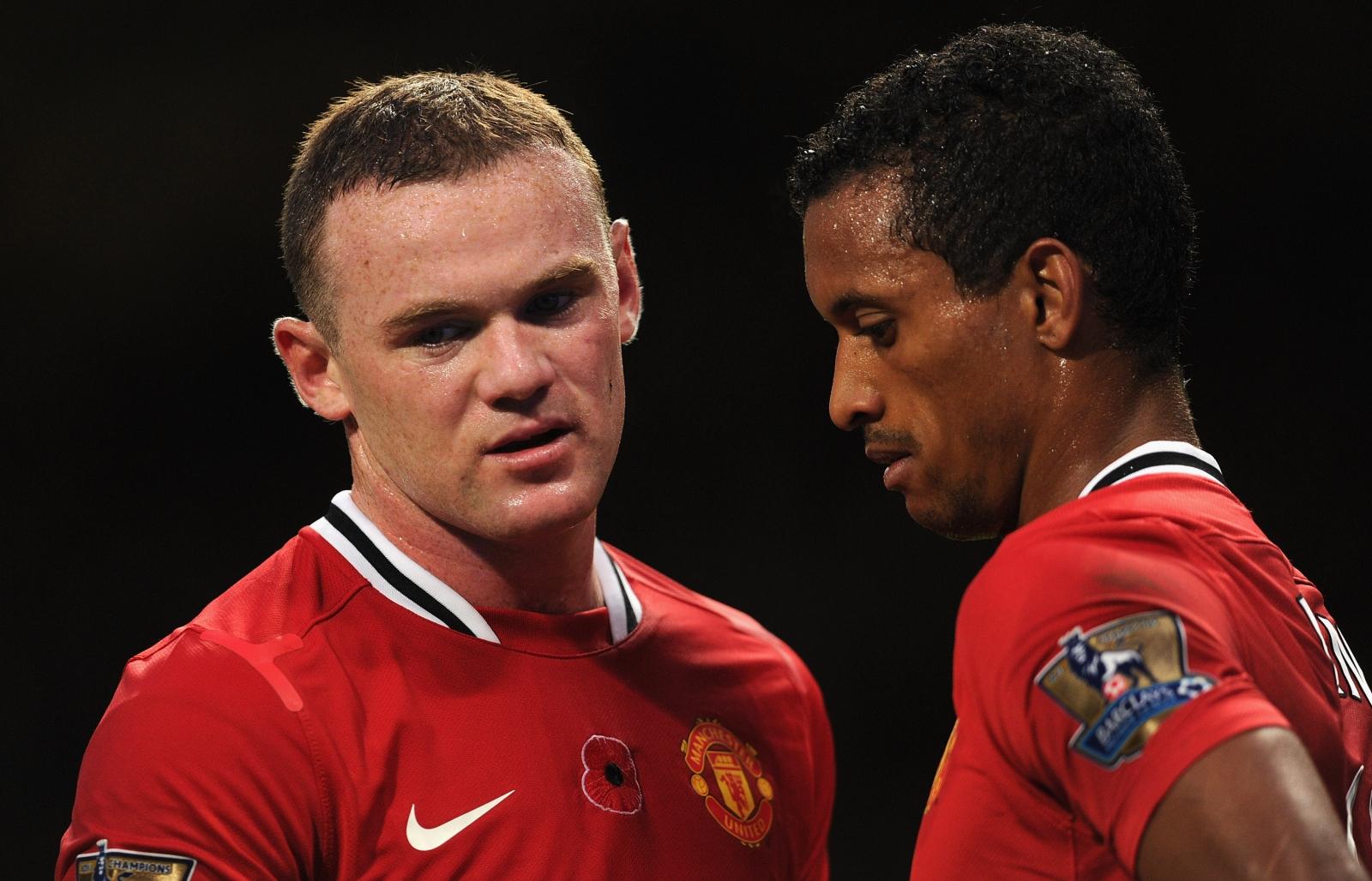 Wayne Rooney (left) and Nani