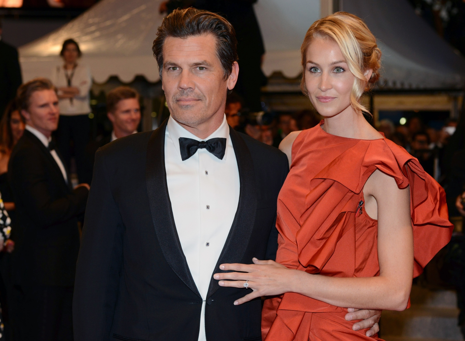 Josh Brolin and Kathryn Boyd