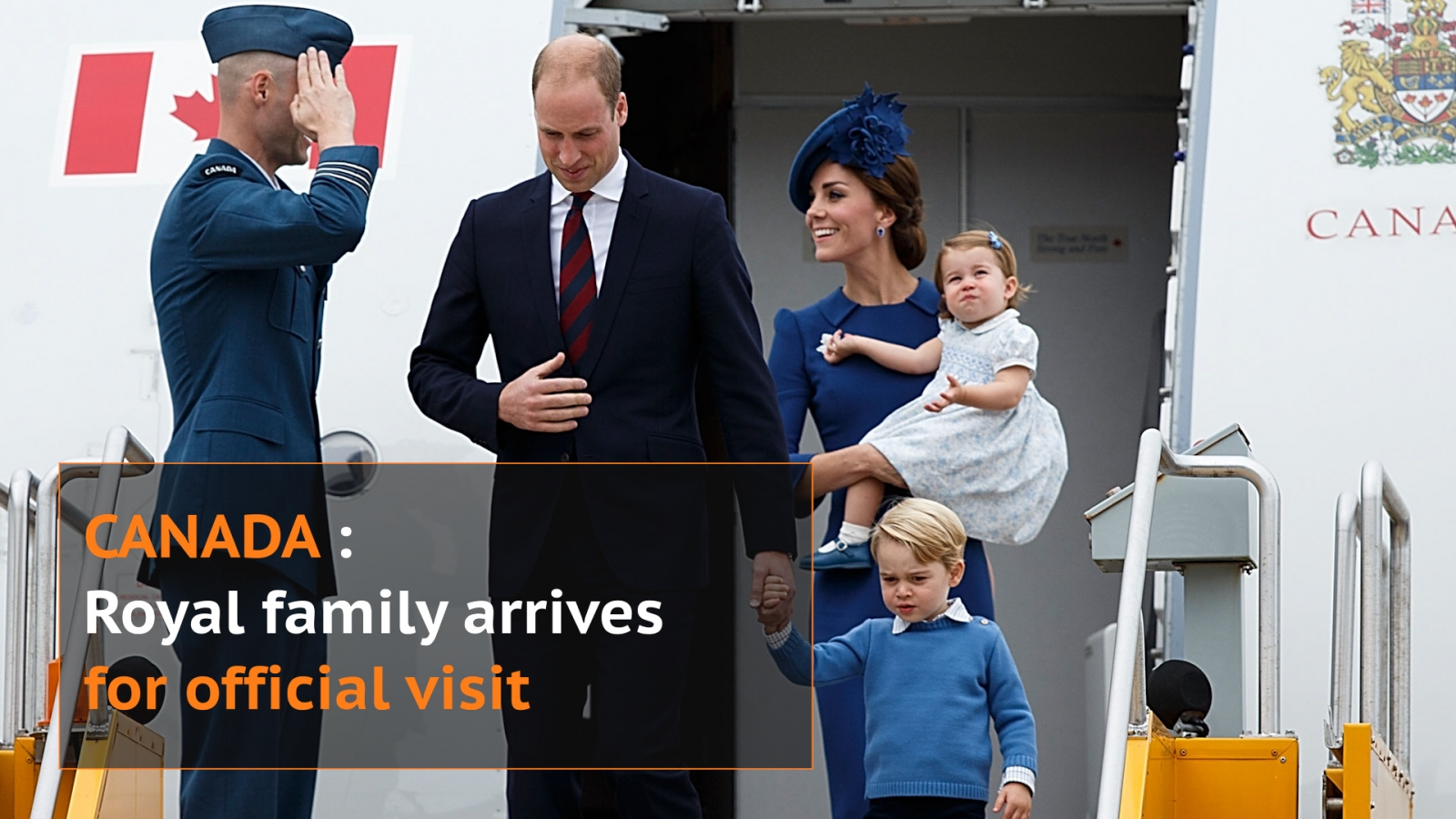 Royal family arrives in Canada