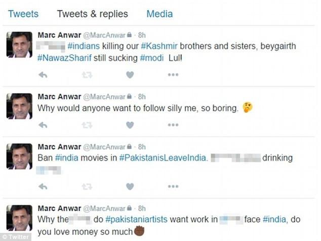 Marc Anwar Coronation Street racist Twitter posts
