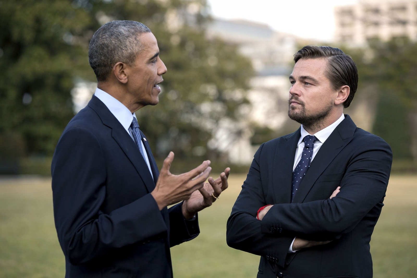 Obama and Leonardo DiCaprio