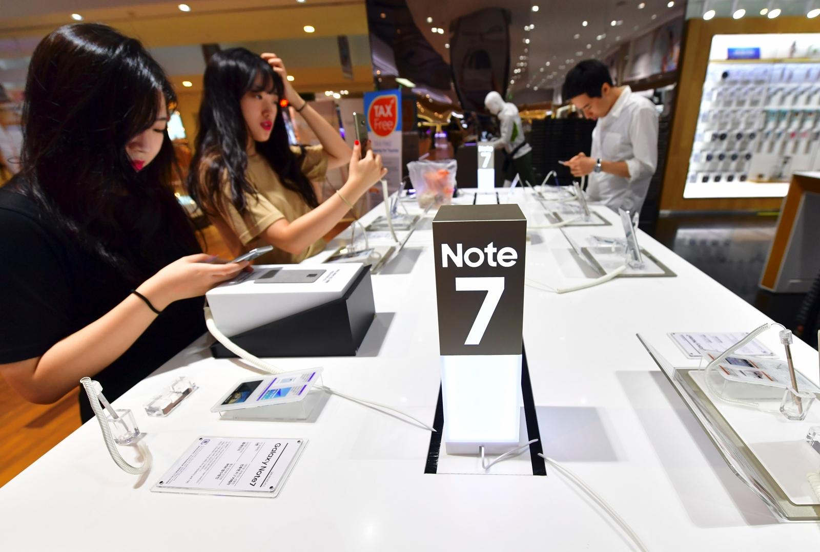 Galaxy Note 7 sales in South Korea