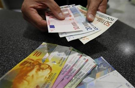 Swiss francs into Euros