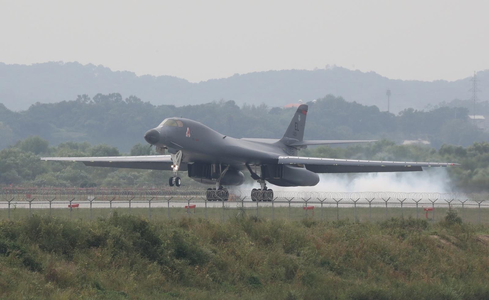 US bomber returns from South Korea