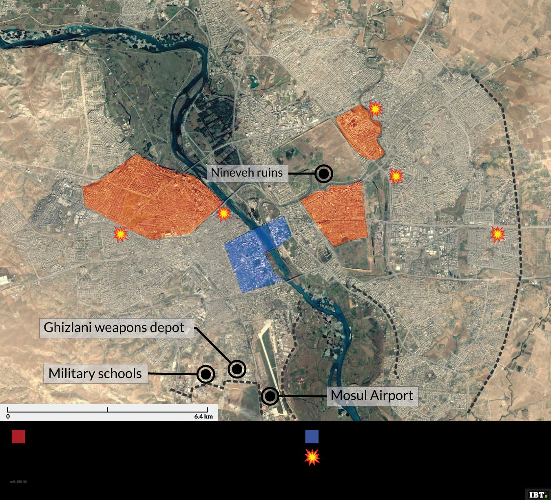 Mosul - City centre plan