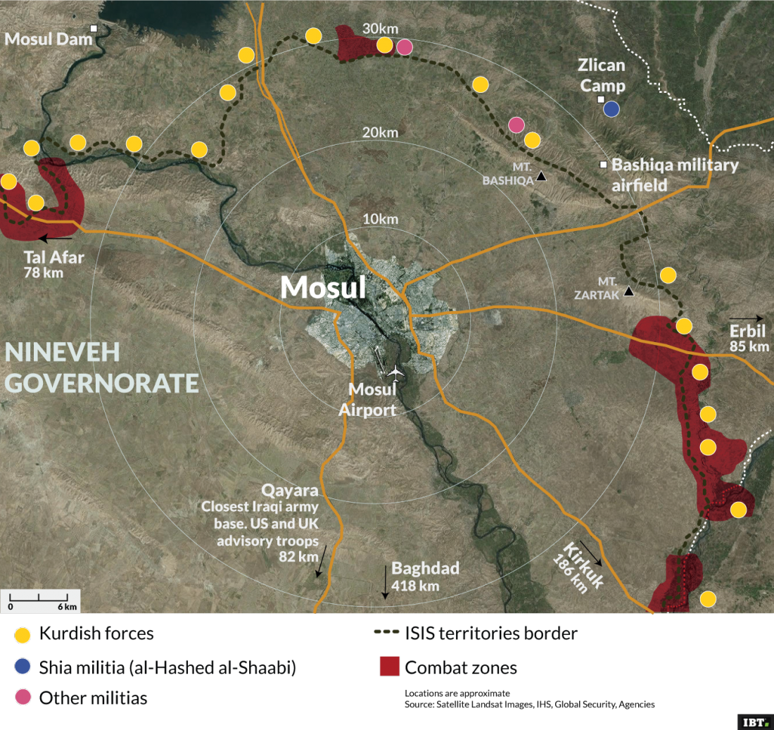 Mosul - Troops positions