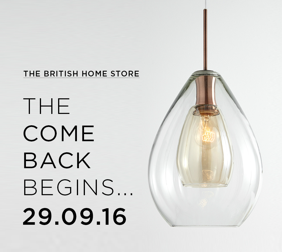 BHS is back: Store reopens online selling lighting and home furnishings