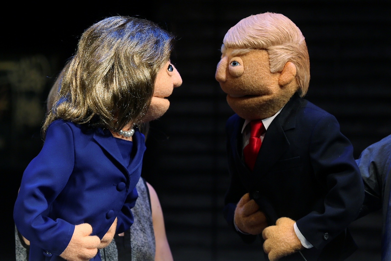 Trump Clinton face off