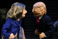 Trump Clinton face off