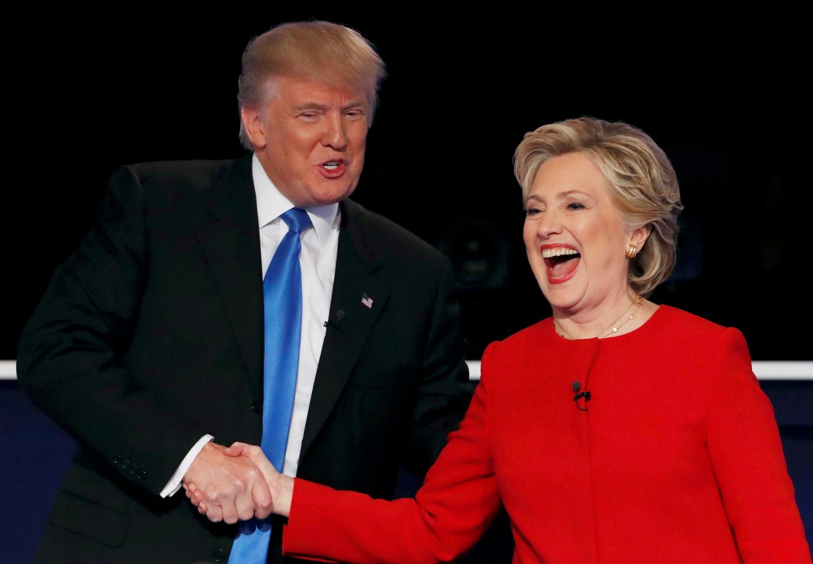 Presidential debate Donald Trump and Hillary Clinton