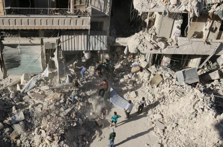 Aleppo bombardment