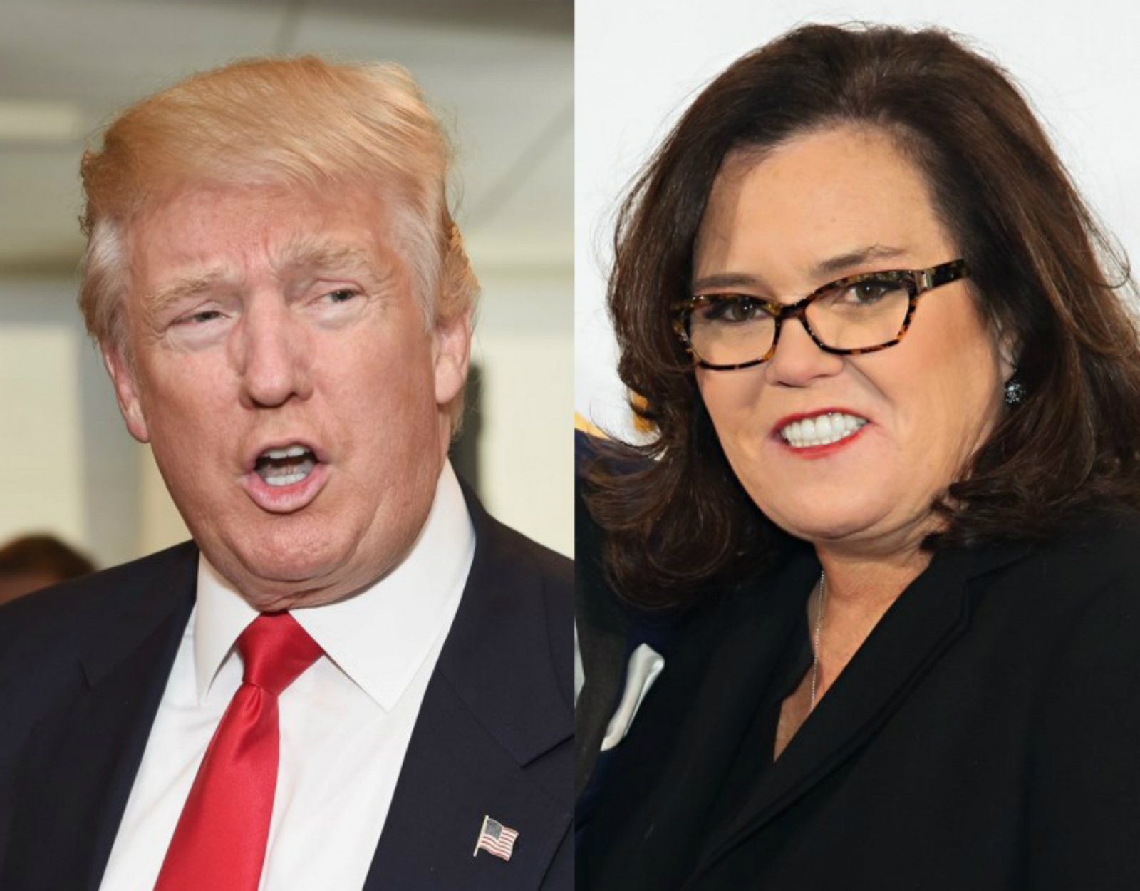 Donald Trump and Rosie O'Donnell