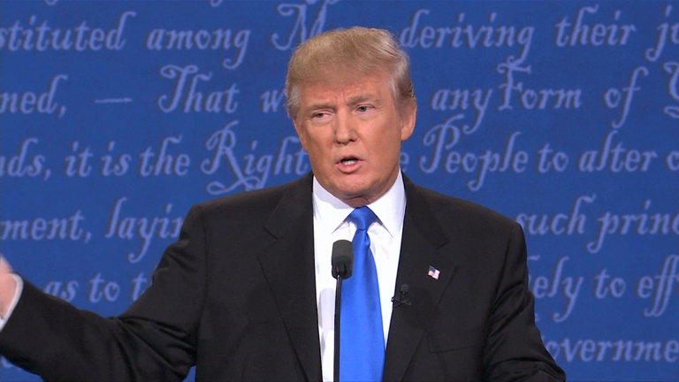 Donald Trump debate sniffles cause social media sensation #TrumpSniffle