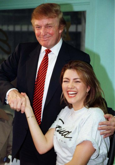 Alicia Machado and Donald Trump