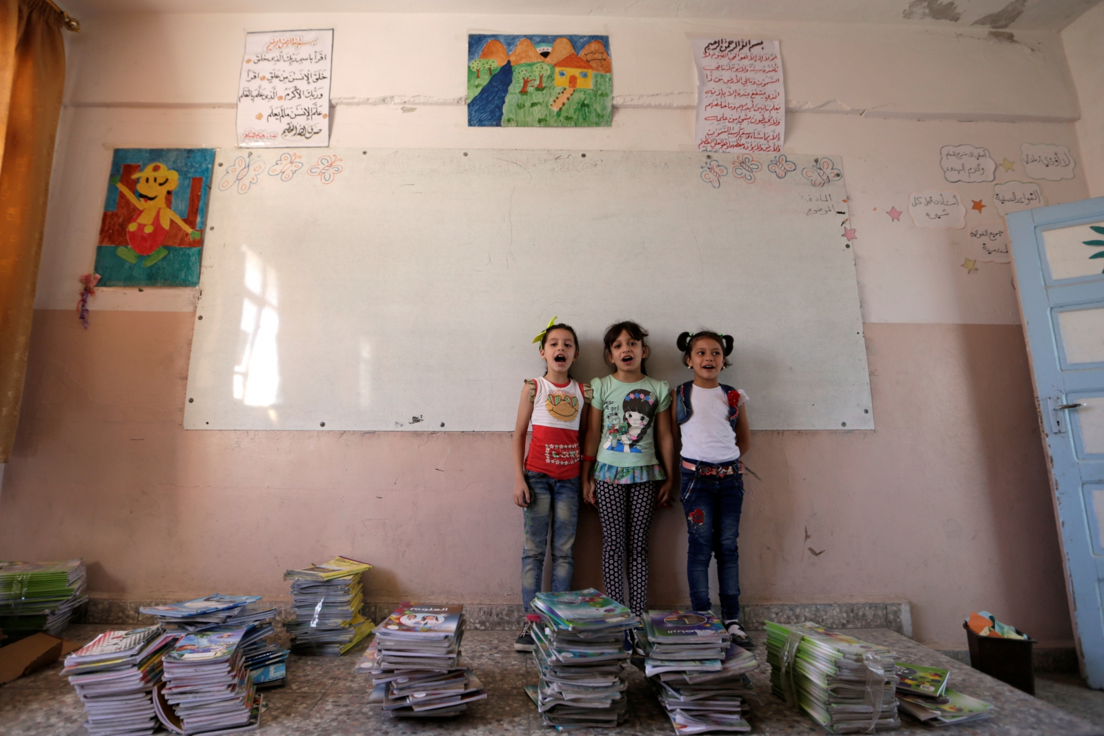 Syria school children