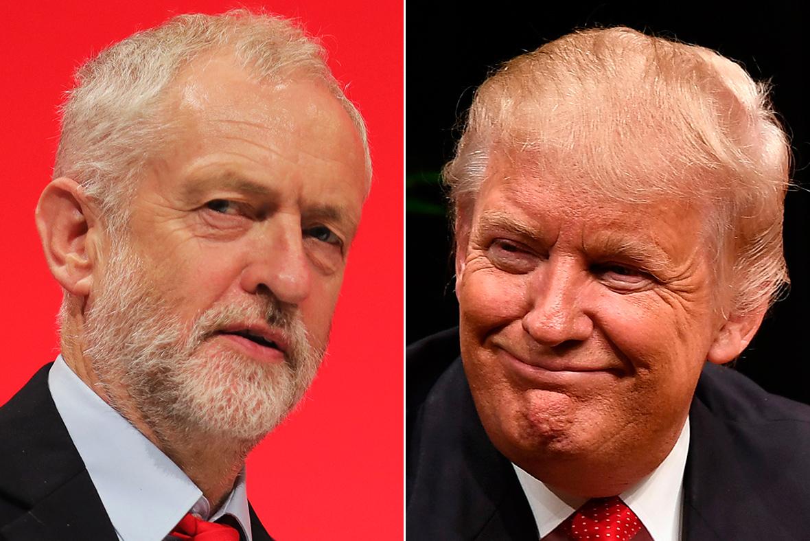Corbyn, Trump