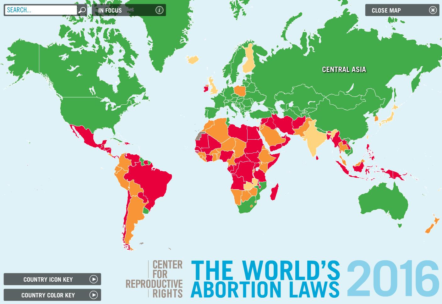 abortion world map