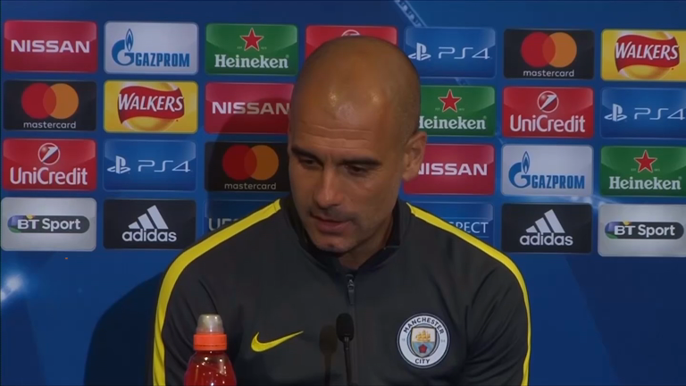 Manchester City boss Pep Guardiola looking forward to Celtic atmosphere