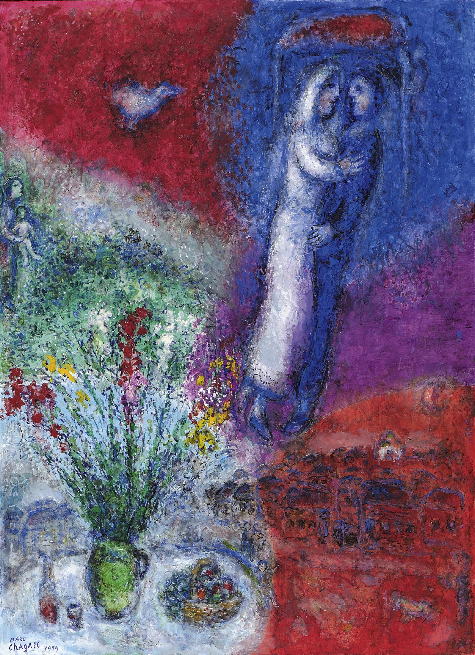Marc Chagall Les maris 1979