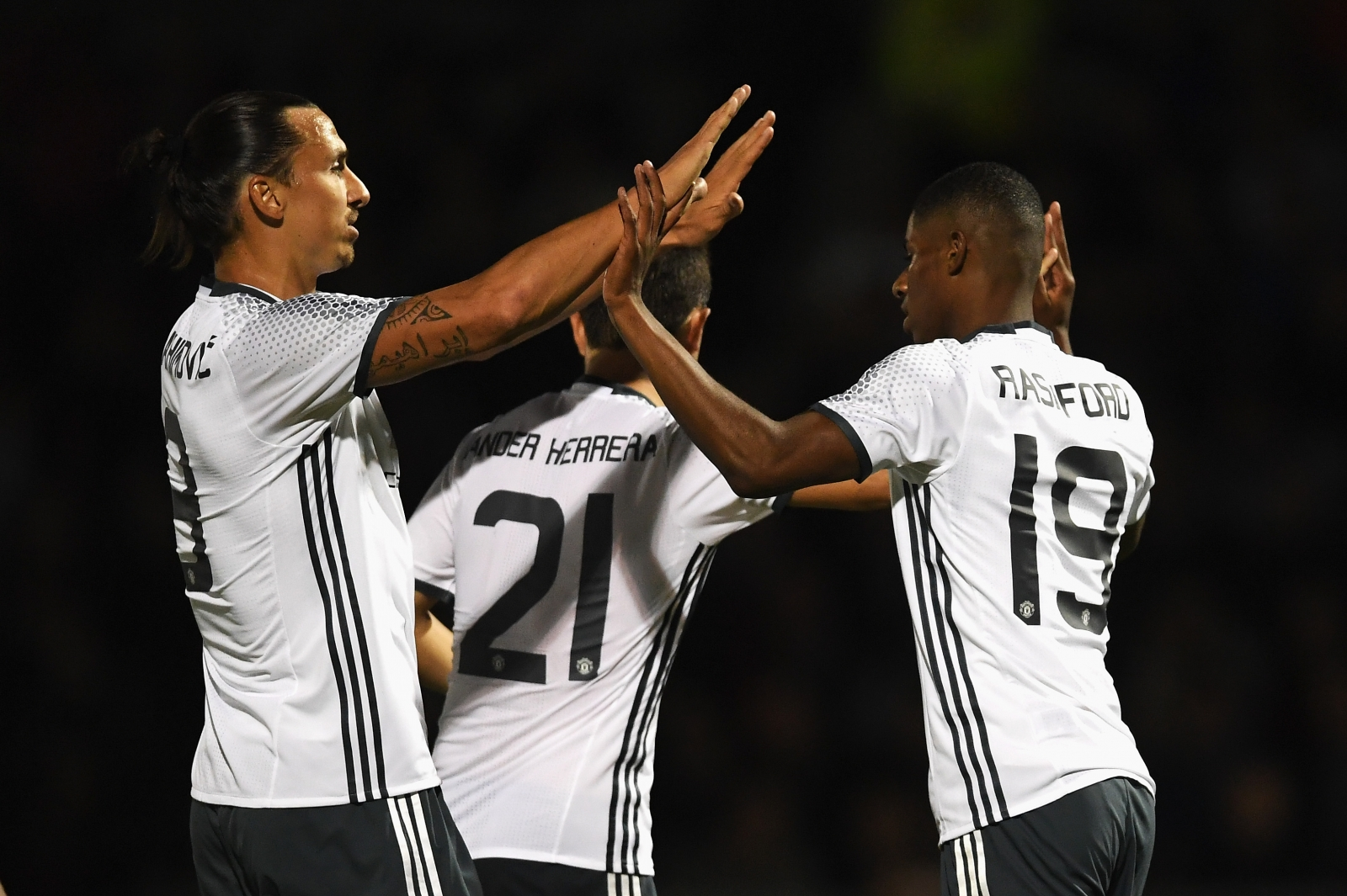 Zlatan Ibrahimovic and Marcus Rashford