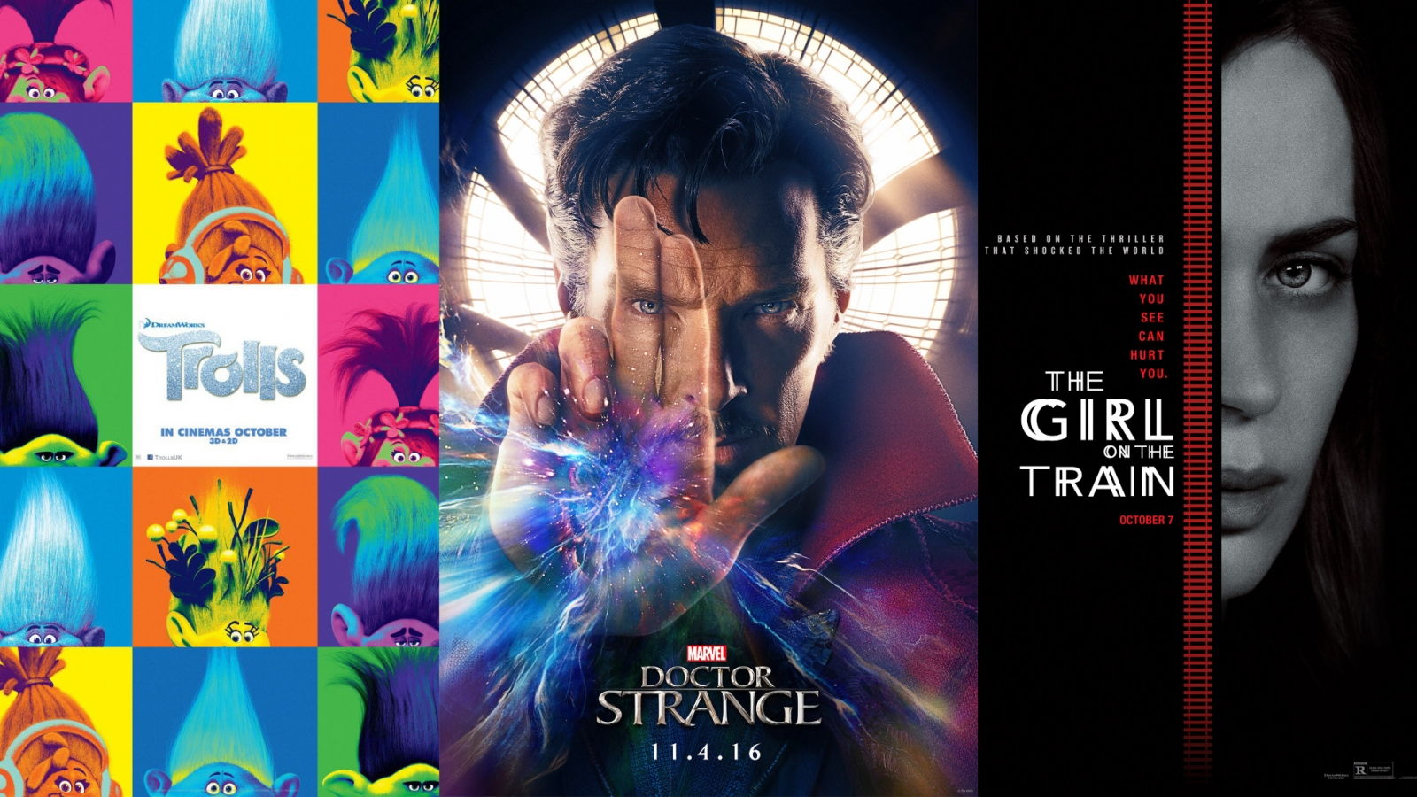 October film preview: Doctor Strange, The Girl On The Train and Trolls