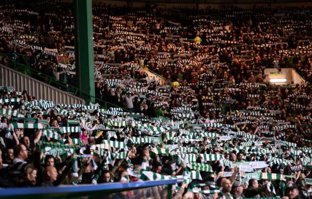 The scene at Celtic Park