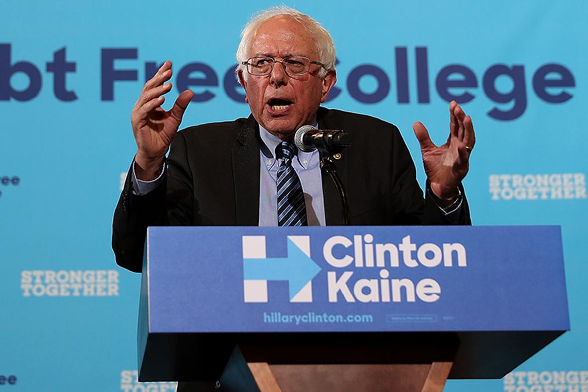 Sanders Clinton