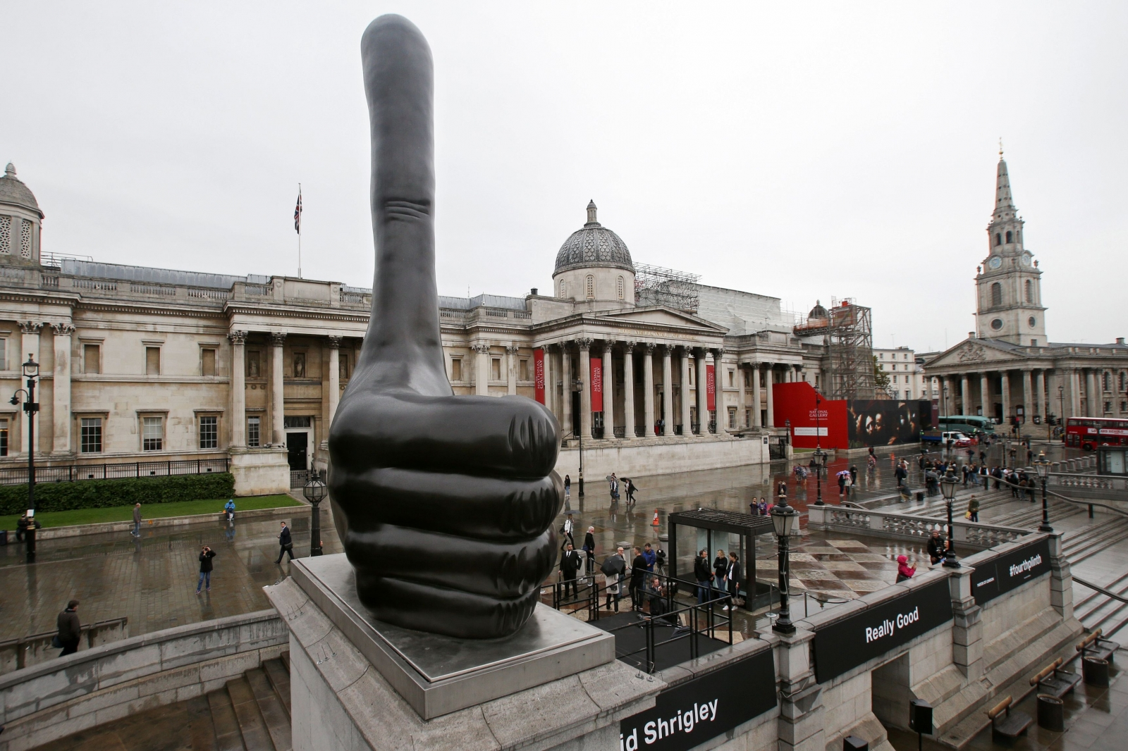 Trafalgar Square: New fourth plinth sculpture by David ... Positive Space Photography