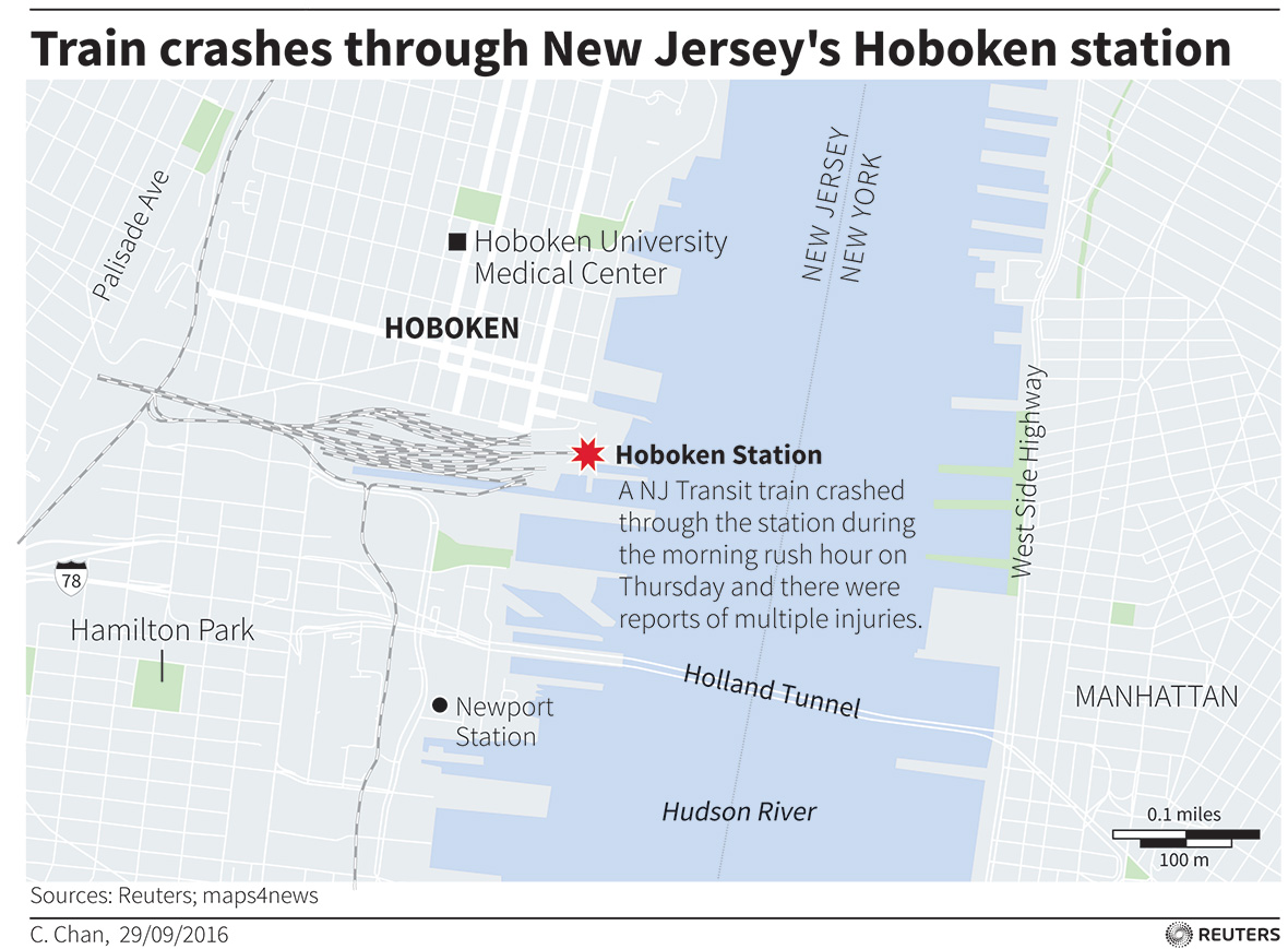 Hoboken rail crash photos: Over 100 injured as New Jersey Transit