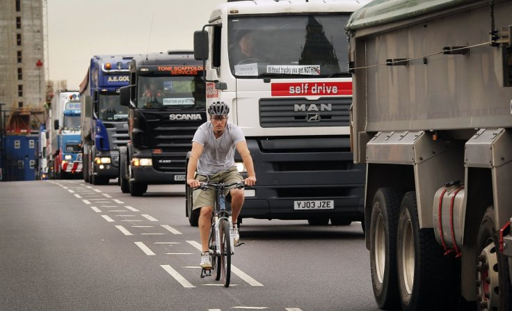 lorries cyclist