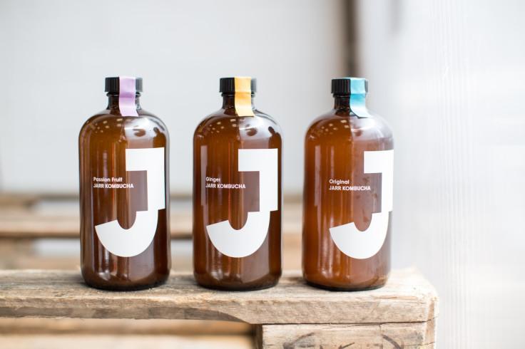 Jarr Kombucha's three flavours