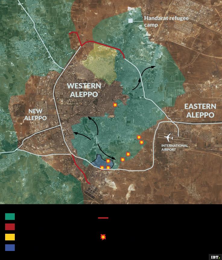Aleppo occupied areas