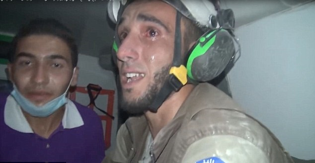 Footage of Syrian worker rescuing child