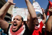 Protesters in Amman, Jordan
