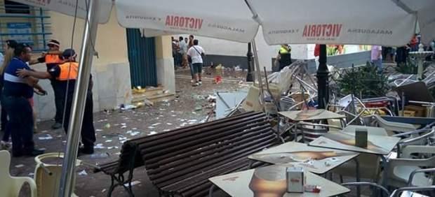 Malaga cafe explosion