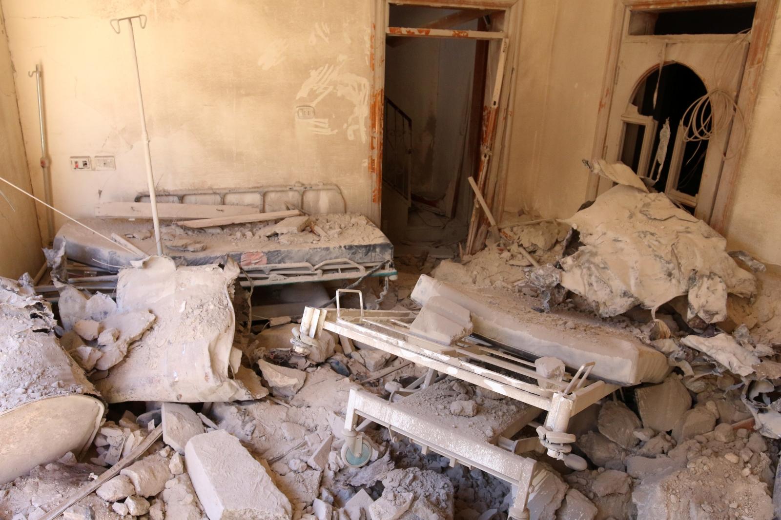 Syrian regime bombs hospital