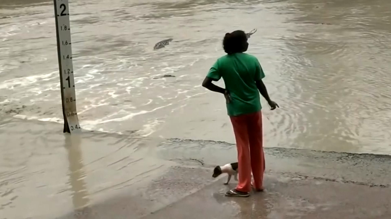Australian woman confronts deadly crocodile – with a flip flop