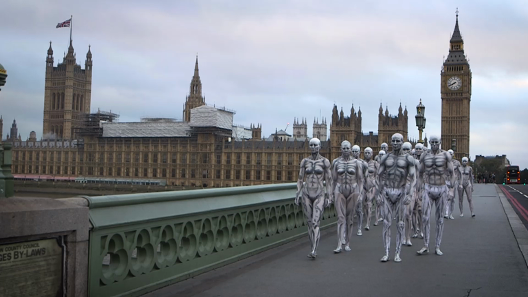 Watch humanoid robots take over London