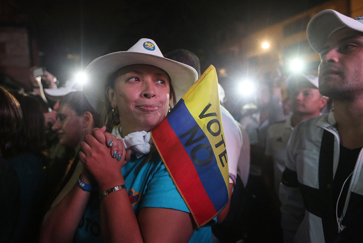 Historic FARC peace deal rejected by Colombians in knife-edge result