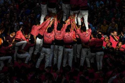 Castells human towers Catalonia Spain