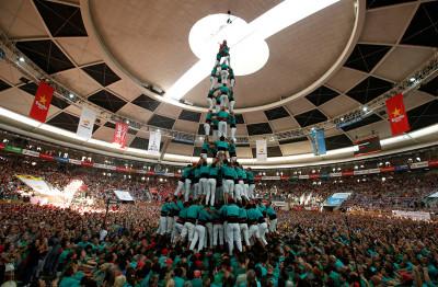 Castells human towers Catalonia Spain
